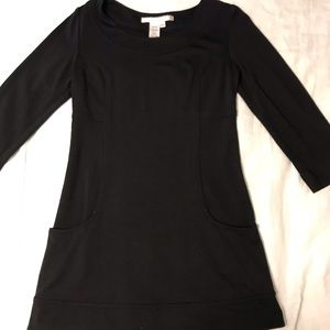 Max Studio Black Fitted Tunic Shirt